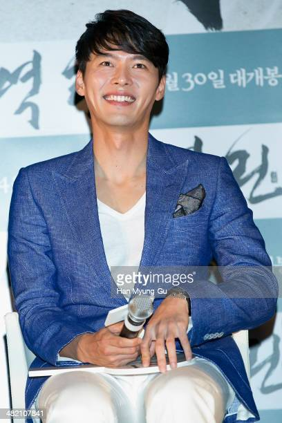 South Korean actor Hyun Bin attends the The Fatal Encounter press conference on April 2 2014 in Seoul South Korea The film will open on April 30 in...