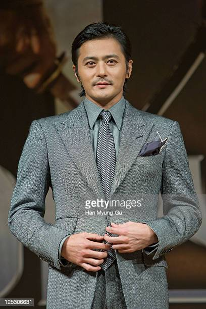 """South Korean actor Jang Dong-Gun attends """"The Warrior's Way"""" press conference at the Pusan International Film Festival at Grand Hotel on October 09,..."""