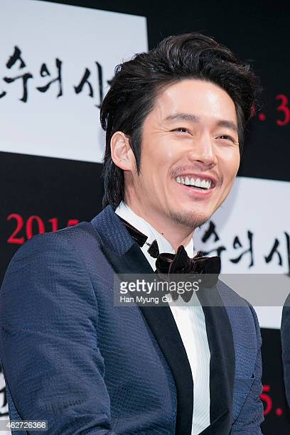 South Korean actor Jang Hyuk attends the press conference for 'Empire of Lust' at CGV on February 3 2015 in Seoul South Korea