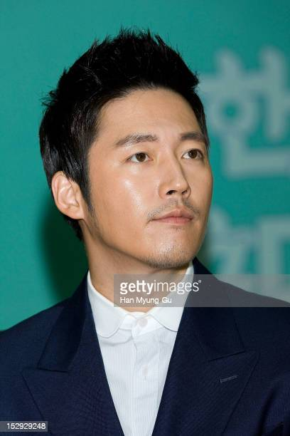 South Korean actor Jang Hyuk is appointed as Goodwill Ambassadors of the Hangeul at Ministry of Culture Sports Tourism on September 27 2012 in Seoul...