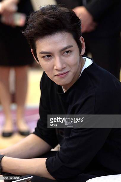 South Korean actor Ji Changwook attends a commercial event on September 12 2015 in Hangzhou Zhejiang Province of China