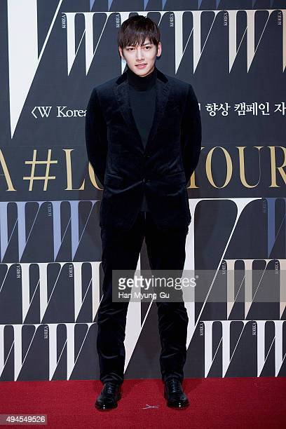 South Korean actor Ji ChangWook poses for photographs at the W Magazine Korea Breast Cancer Awareness Campaign 'Love Your W' photo call on October 27...