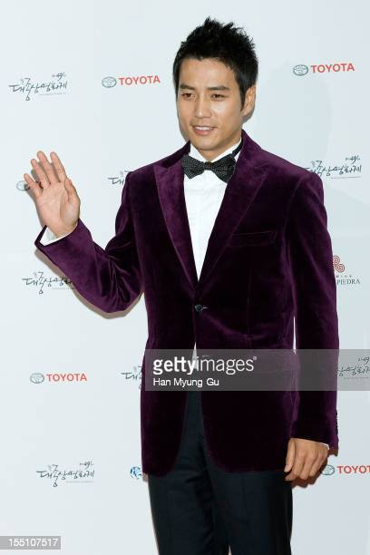 South Korean actor Joo SangWook attends the 49th Daejong Film Awards at KBS Hall on October 30 2012 in Seoul South Korea