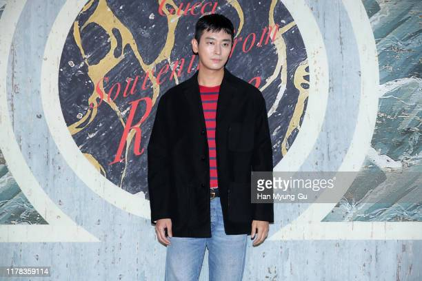 South Korean actor Ju JiHoon attends the Photocall for 'Gucci' Cruise 2020 Campaign Party on October 01 2019 in Seoul South Korea