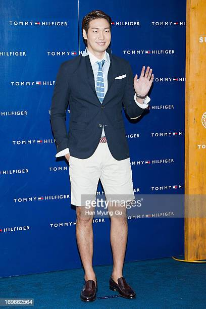 South Korean actor Jung GyuWoon attends the Tommy Hilfiger 'Surf Shack' Capsule Collection Launching Party at Tommy Hilfiger flagship store on May 29...