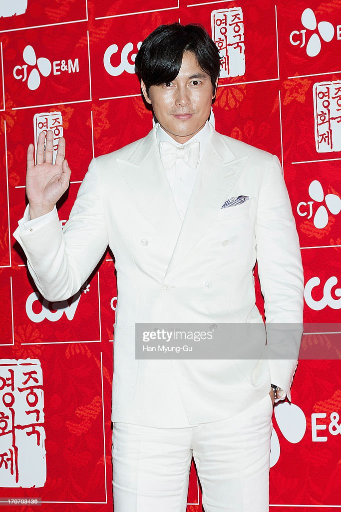 South Korean actor Jung Woo-Sung arrives during the 2013 Chinese Film Festival opening ceremony at Yeouido CGV on June 16, 2013 in Seoul, South Korea. The festival will showcases 11 films and runs from June 16-20 in South Korea.