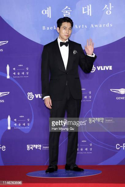 South Korean actor Jung WooSung attends the 55th Baeksang Arts Awards at COEX D Hall on May 01 2019 in Seoul South Korea