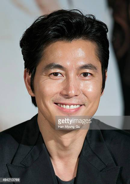 South Korean actor Jung WooSung attends The Divinemove press conference at MEGA Box on May 28 2014 in Seoul South Korea