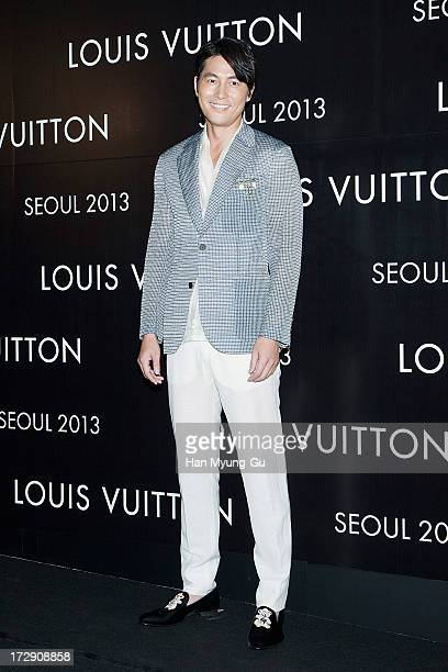 South Korean actor Jung WooSung attends the 'Louis Vuitton' Hyundai Department Store Global Store Grand Opening Party at the Horim Art Center on July...
