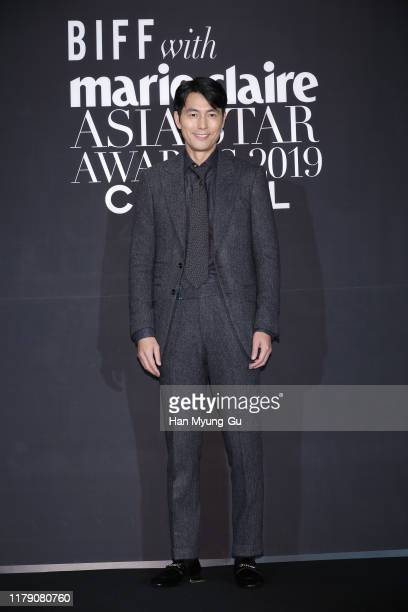 South Korean actor Jung WooSung attends the Marie Claire 2019 Asia Star Awards on October 04 2019 in Busan South Korea