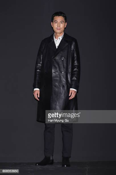 South Korean actor Jung WooSung attends the photocall for 'Saint Laurent' by Anthony Vaccarello Collection Launch Party at BoonTheShop on March 27...