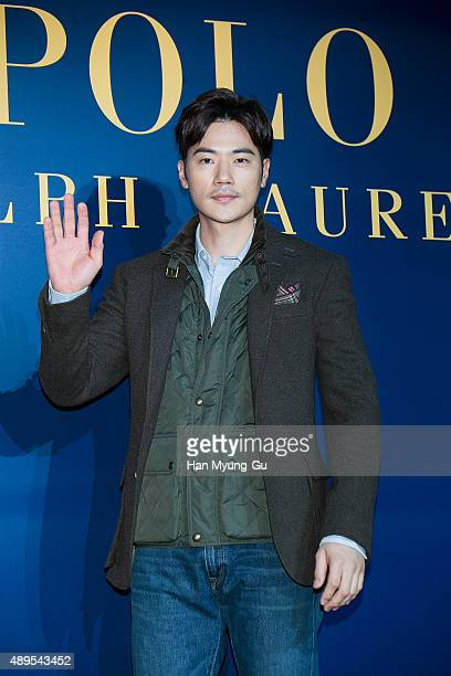 South Korean actor Kim KangWoo attends the launch party for 'Polo Ralph Lauren' Shinsa Store Opening on September 22 2015 in Seoul South Korea