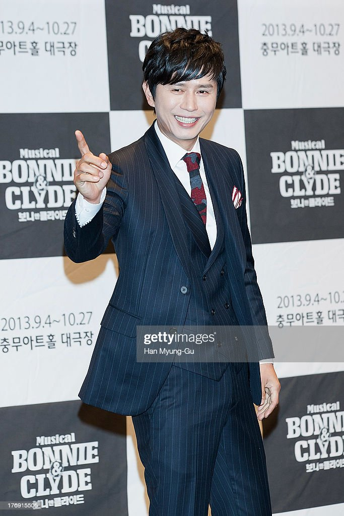 South Korean actor Kim Min-Jong attends the press conference for musical 'Bonnie and Clyde' at M-Cube in Seoul on August 19, 2013 in Seoul, South Korea. The musical will open on September 04, in South Korea.