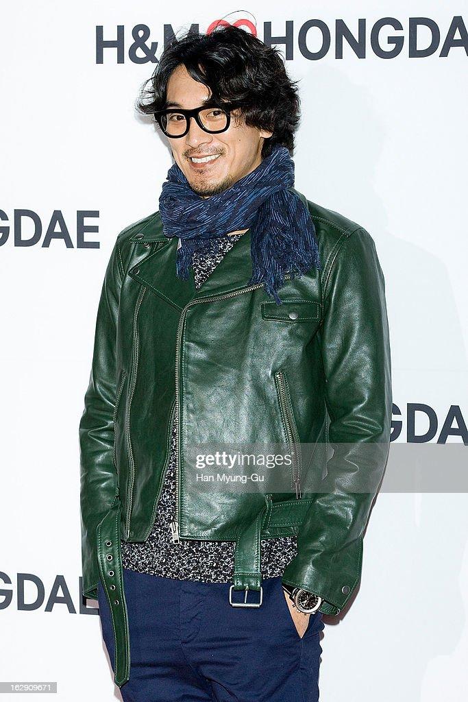 South Korean actor Kim Min-Jun attends the H&M (Hennes & Mauritz AB) Hongik University Store Opening on February 28, 2013 in Seoul, South Korea.