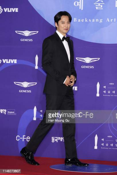 South Korean actor Kim NamGil attends the 55th Baeksang Arts Awards at COEX D Hall on May 01 2019 in Seoul South Korea