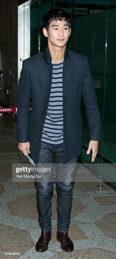 South Korean actor Kim Soo-Hyun is seen at Gimpo International Airport on December 7, 2012 in Seoul, South Korea.