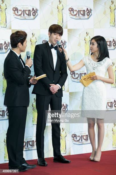 South Korean actor Kim WooBin attends the 2013 SBS Drama Awards at SBS on December 31 2013 in Seoul South Korea