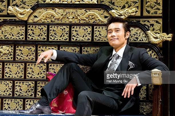 South Korean actor Lee ByungHun attends a press conference to promote 'Masquerade' at CGV on August 13 2012 in Seoul South Korea