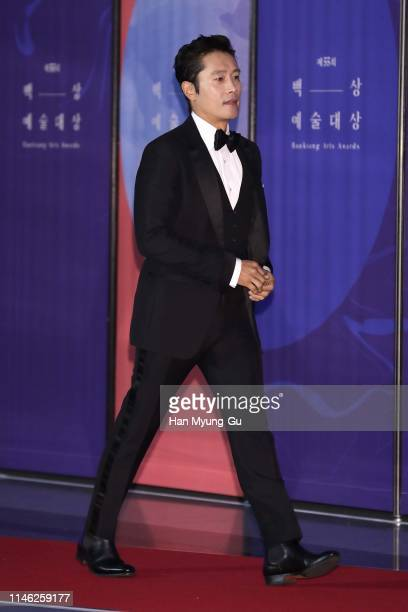South Korean actor Lee ByungHun attends the 55th Baeksang Arts Awards at COEX D Hall on May 01 2019 in Seoul South Korea