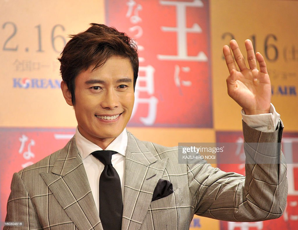South Korean actor Lee Byung-Hun poses during a photo session after a press conference to promote his latest film 'Gwanghae: the Man Who Became King' in Tokyo on January 29, 2013. The film will open in Japan on February 16.