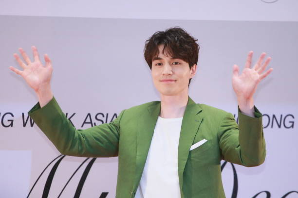 South Korean actor Lee Dongwook attends a press conference on May 2 2017 in Hong Kong China