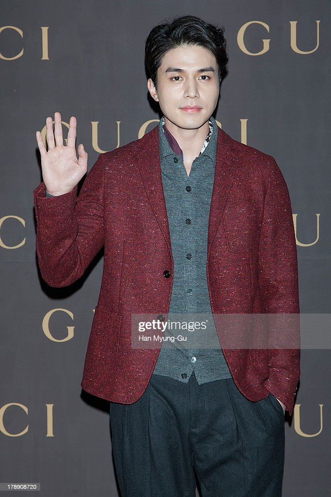South Korean actor Lee DongWook attends during a promotional event for the Gucci 'House Of Artisan' at Gucci Gangnam Store on August 30 2013 in Seoul...