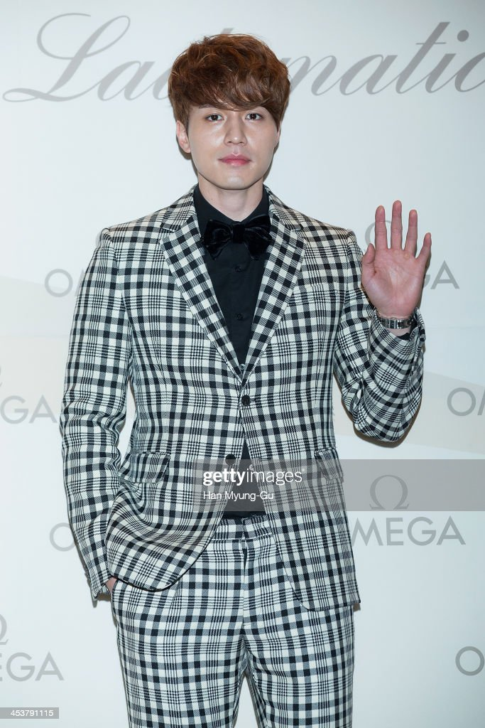 South Korean actor Lee DongWook attends Omega 'Ladymatic' Launch Party at Shilla Hotel on December 5 2013 in Seoul South Korea