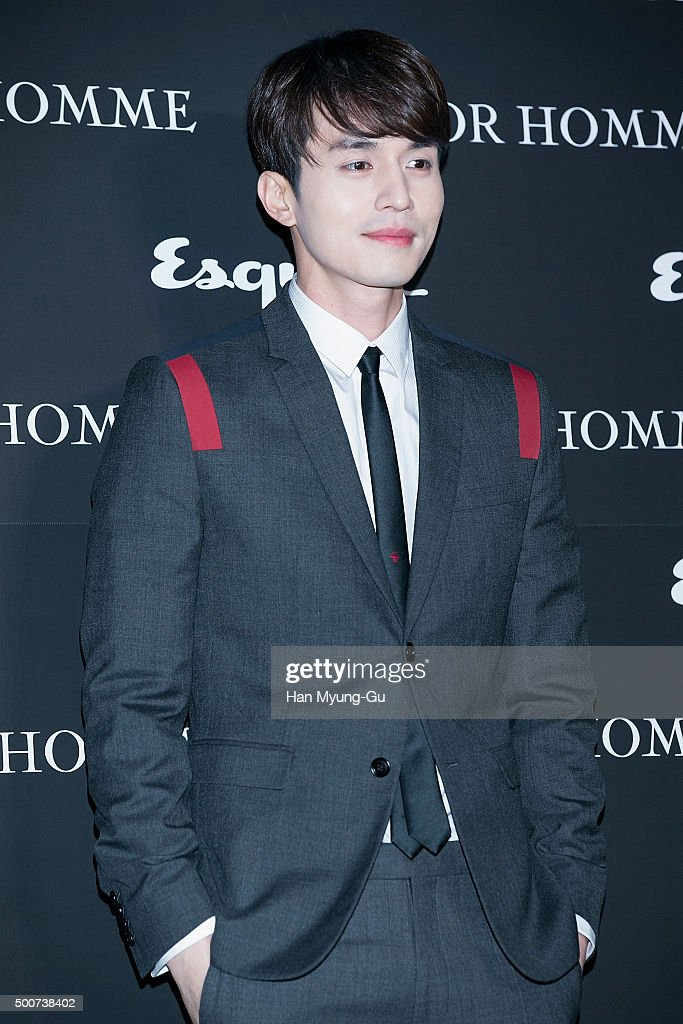 South Korean actor Lee DongWook attends the Esquire 20th Anniversary with Dior Homme Party Photocall on December 3 2015 in Seoul South Korea