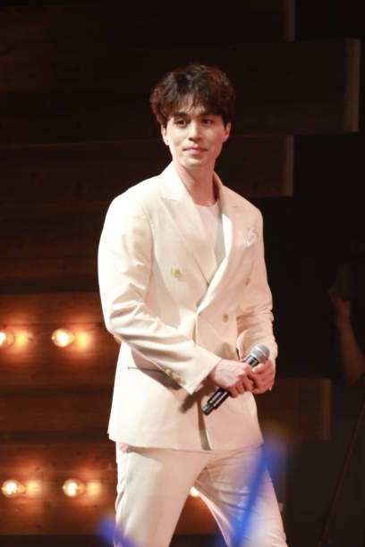 South Korean actor Lee Dongwook meets fans on May 3 2017 in Taipei Taiwan