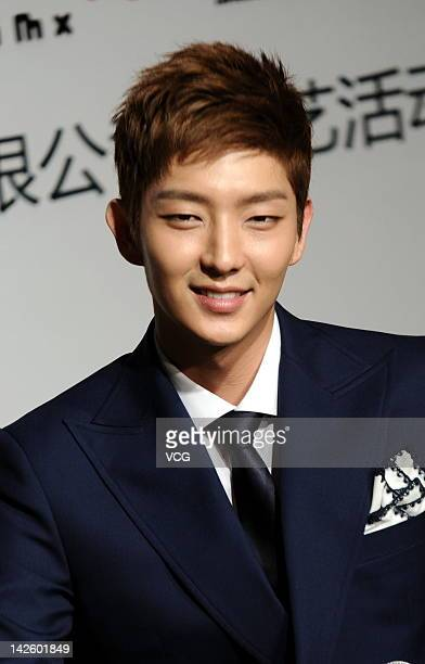South Korean actor Lee Jun Ki meets with fans on April 8 2012 in Shanghai China