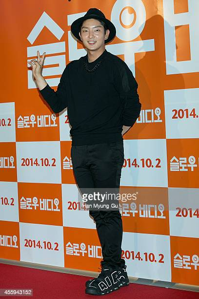 South Korean actor Lee JunKi attends the 'Slow Video' VIP screening on September 22 2014 in Seoul South Korea