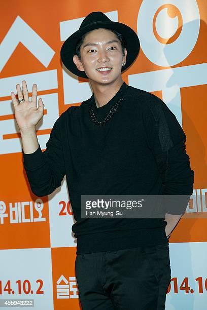 South Korean actor Lee JunKi attends the 'Slow Video' VIP screening on September 22 2014 in Seoul South Korea