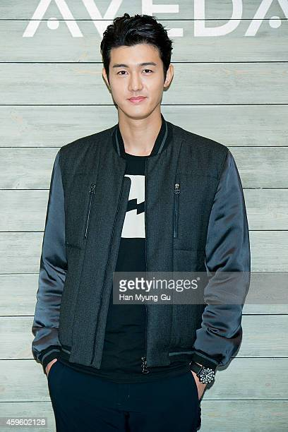 South Korean actor Lee KiWoo attends the launch event for AVEDA 'Botanical Kinetics' at the Shilla Hotel on November 26 2014 in Seoul South Korea