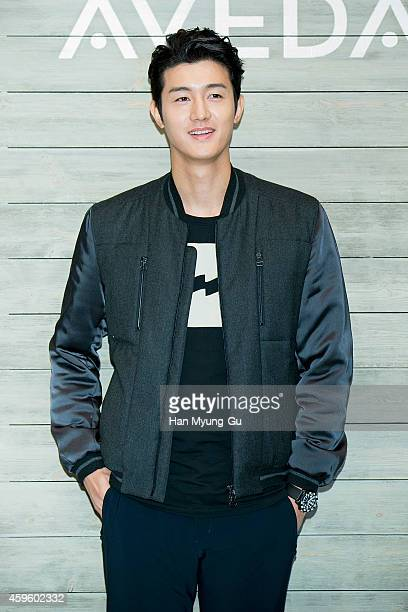 South Korean actor Lee KiWoo attends the launch event for AVEDA Botanical Kinetics at the Shilla Hotel on November 26 2014 in Seoul South Korea