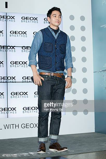 South Korean actor Lee KyuHan attends the Travel With  GEOX  at Lotte  Department Store 61a88f7b7139