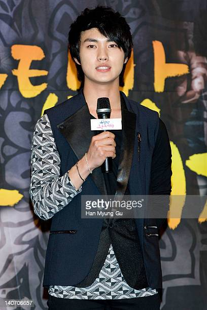 South Korean actor Lee MinHo attends a press conference to promote SBS drama 'Rooftop Prince' at Lotte Hotel on March 05 2012 in Seoul South Korea...