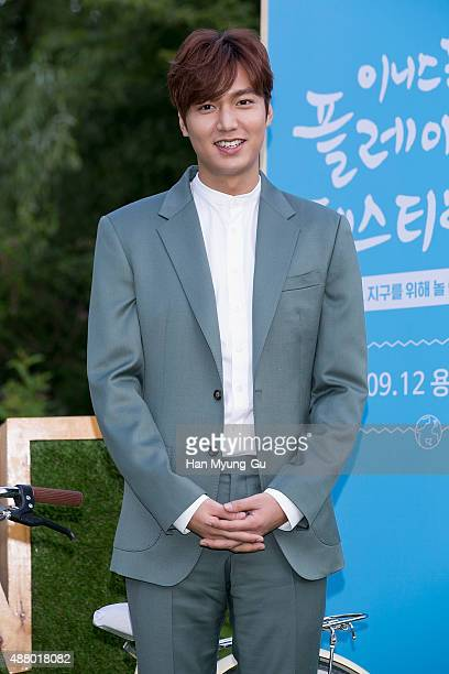 South Korean actor Lee MinHo attends an event for AMORE PACIFIC 'Innisfree' Play Green Festival on September 12 2015 in Seoul South Korea
