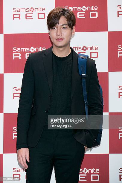 South Korean actor Lee MinHo attends an event for Samsonite Red 'Red Say With Lee MinHo' Talk Concert on February 26 2015 in Seoul South Korea