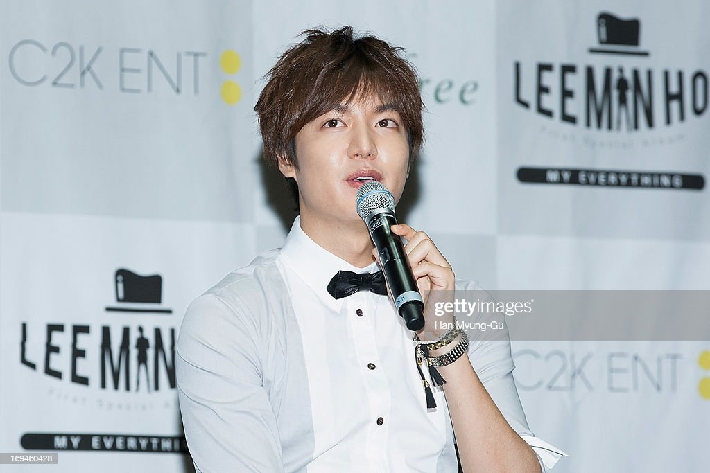 South Korean actor Lee Min-Ho attends during the 'My Everything' talk concert at Kyung Hee University on May 25, 2013 in Seoul, South Korea.