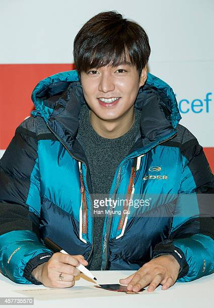 South Korean actor Lee MinHo attends the autograph session for EIDER at Lotte Department Store on October 23 2014 in Seoul South Korea