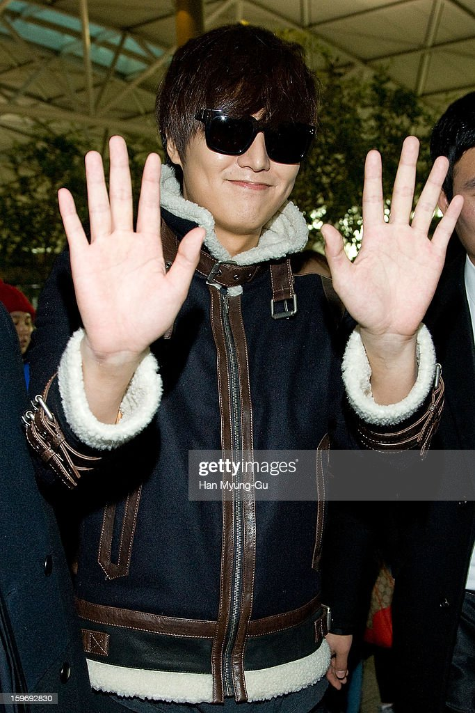 South Korean actor Lee Min-Ho is seen at Incheon International Airport on January 18, 2013 in Incheon, South Korea.