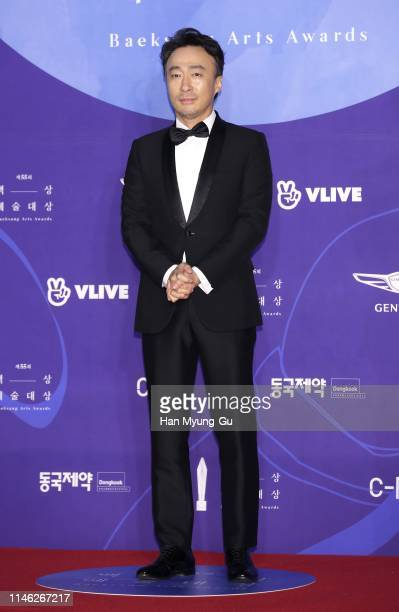 South Korean actor Lee SungMin attends the 55th Baeksang Arts Awards at COEX D Hall on May 01 2019 in Seoul South Korea