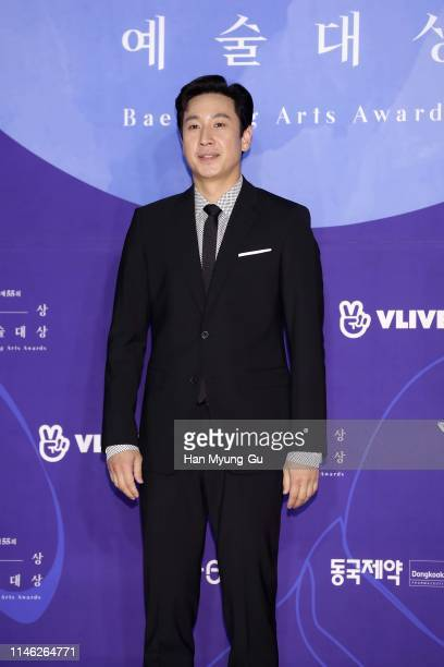 South Korean actor Lee SunKyun attends the 55th Baeksang Arts Awards at COEX D Hall on May 01 2019 in Seoul South Korea