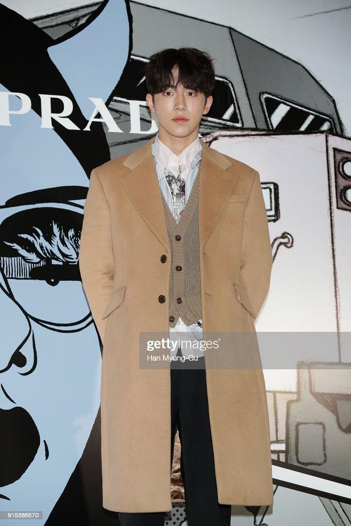 South Korean actor Nam Ju-Hyuk attends the photocall for the 'PRADA' on February 7, 2018 in Seoul, South Korea.