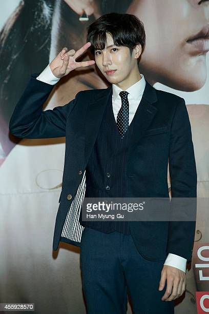 South Korean actor No MinWoo attends the TV Chosun Drama 'Love And Marriage' press conference on September 22 2014 in Seoul South Korea The drama...