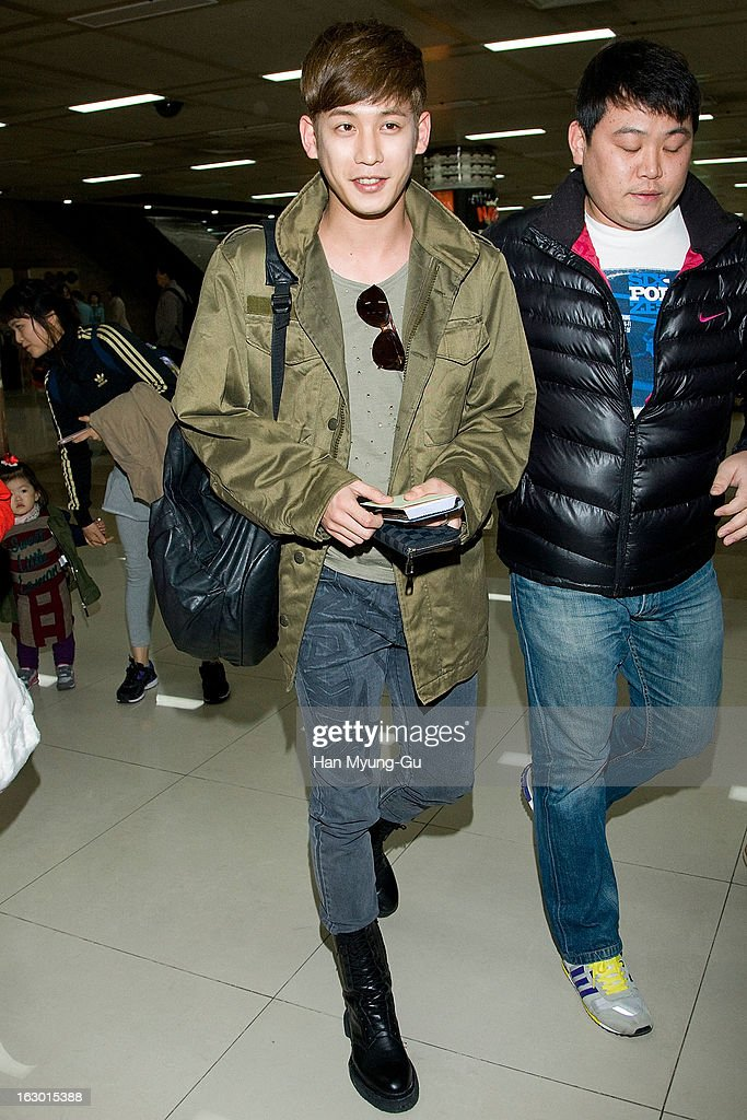 South Korean actor Park Ki-Woong is seen upon arrival from Japan at Gimpo International Airport on March 3, 2013 in Seoul, South Korea.