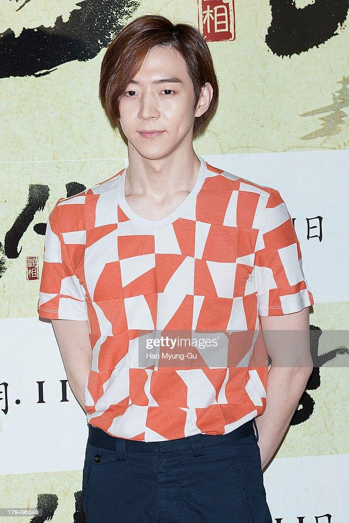 South Korean actor Park Yu-Hwan (Park You-Hwan, Park Yoo-Hwan, Ricky Park) attends during 'The Face Reader' VIP screening at the CGV on September 4, 2013 in Seoul, South Korea. The film will open on September 11, in South Korea.