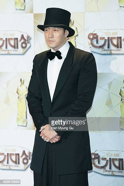 South Korean actor So JiSub attends the 2013 SBS Drama Awards at SBS Prism Tower on December 31 2013 in Seoul South Korea
