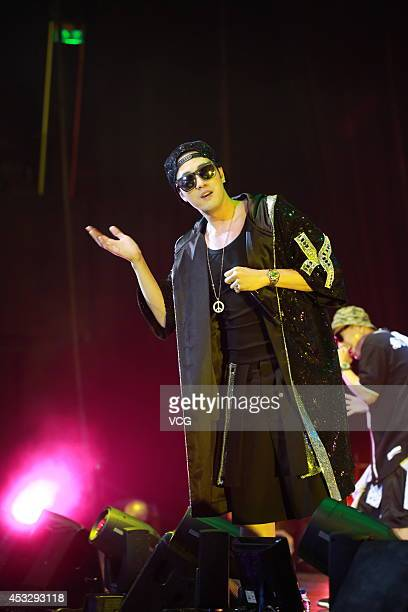 South Korean actor So Jisub performs on the stage during 'Let`s have fun in Hongkong' show at Hong Kong International Trade and Exhibition Centre on...