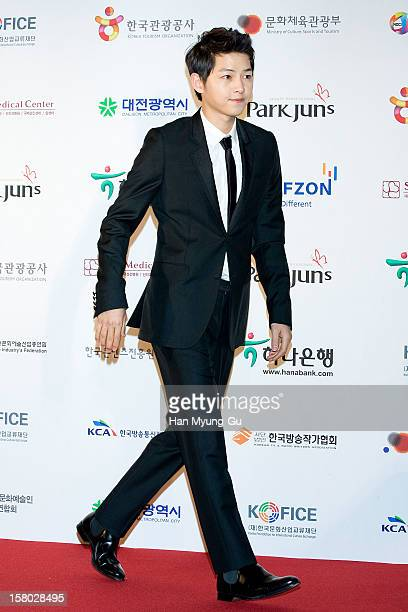 South Korean actor Song Joong-Ki attends the 1st K-Drama Star Awards at Daejeon Convention Center on December 8, 2012 in Daejeon, South Korea.